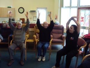 My weekly session at the Millbrook Day centre